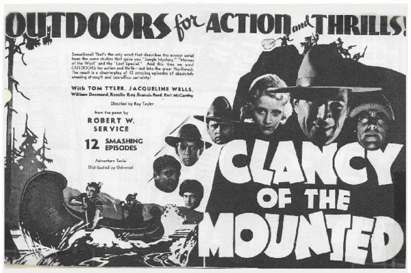 Clancy of the Mounted two page ad