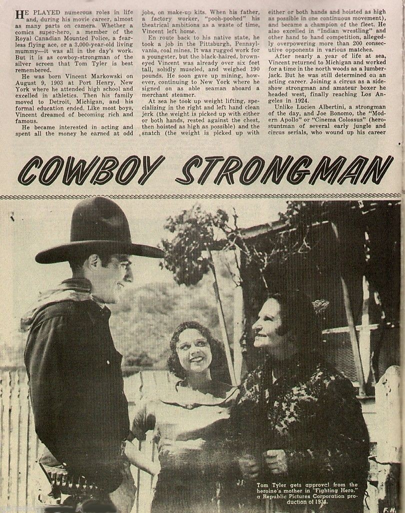 Old West Winter 1974 Cowboy Strongman